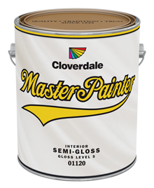 <p>Master Painter Interior Latex Finish, Semi-Gloss (GL5)</p>