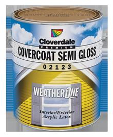<p>WeatherOne<sup>&reg;</sup>&nbsp;CoverCoat 100% Acrylic Exterior Finish, Semi-Gloss (GL5)</p>