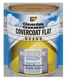 <p>WeatherOne<sup>&reg;</sup>&nbsp;CoverCoat 100% Acrylic Exterior Finish, Flat (GL1)</p>