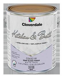 <p>Kitchen &amp; Bath 100% Acrylic Latex Finish, Semi-Gloss (GL5)</p>