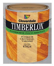 <p>Timberlox<sup>&reg;</sup>&nbsp;Waterborne Polycarbonate Varnish, Gloss (GL6)</p>