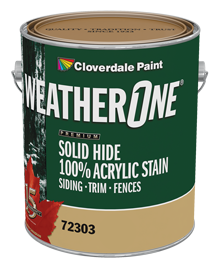 <p><span>WeatherOne Solid Hide 100% Acrylic Stain</span></p>